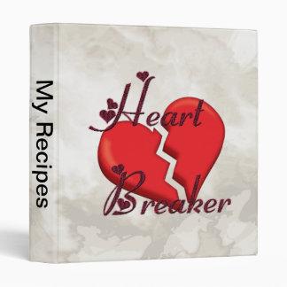 Heartbreaker Funny Valentine Binders