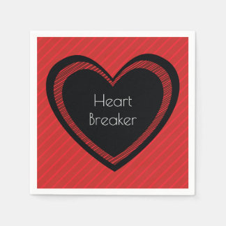 Heartbreaker Red and Black | Paper Napkins