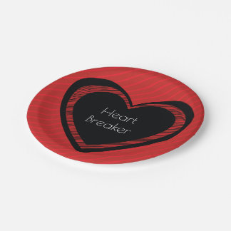 Heartbreaker Red and Black | Paper Plate