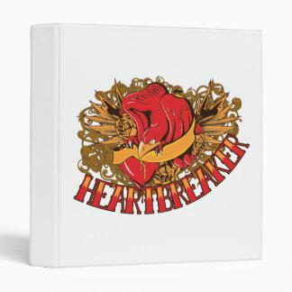heartbreaker red bird tattoo style art binders