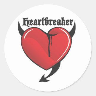 Heartbreaker Round Sticker