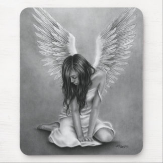 Heartbroken Angel Mousepad