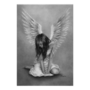 Custom Personalized Phora Angels With Broken Wings Silk Poster Wall Decor