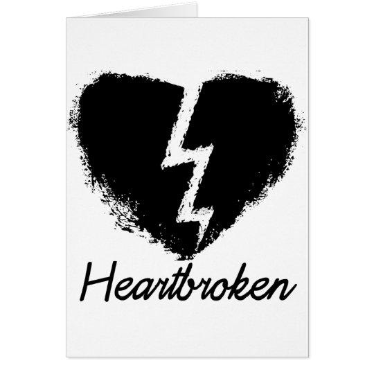 Heartbroken Anti Valentine's Day Card