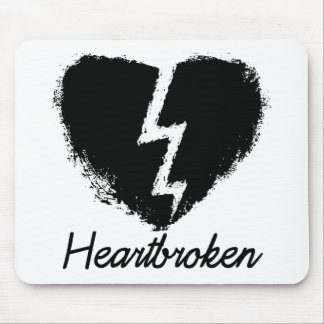 Heartbroken Anti Valentine's Day Mouse Pad
