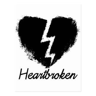 Heartbroken Anti Valentine's Day Postcard