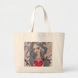heartbroken large tote bag