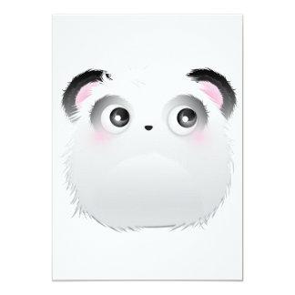 Heartbroken Panda Furry Monster 5x7 Paper Invitation Card