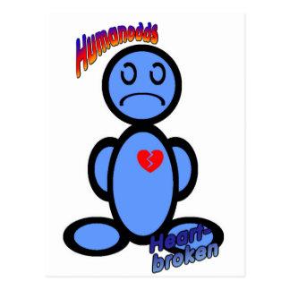 Heartbroken (with logos) postcard