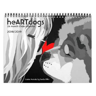 heARTdogs by Sandra Miller -24 month Chow Calendar