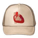 Hearted grande gorras
