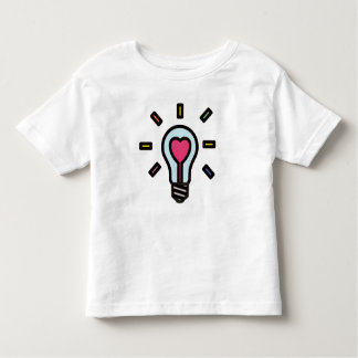 Hearted ❤︎ Light Bulb Toddler Tee : Pastel