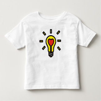 Hearted ❤︎ Light Bulb Toddler Tee : Yellow