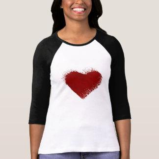 Hearted quebrado camisetas