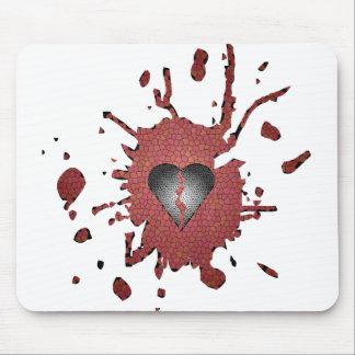 Hearted quebrado alfombrillas de ratón