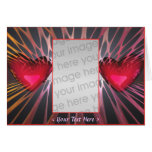 Hearteries (photo frame) greeting card