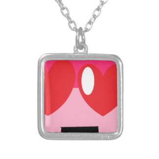 hearteyes silver plated necklace