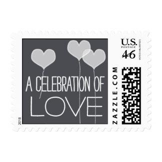 Heartfelt - A Celebration of Love - Gray Postage Stamp
