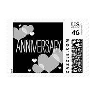 Heartfelt - Anniversary - Black Postage