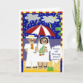 Heartfelt anniversary card for old married couples