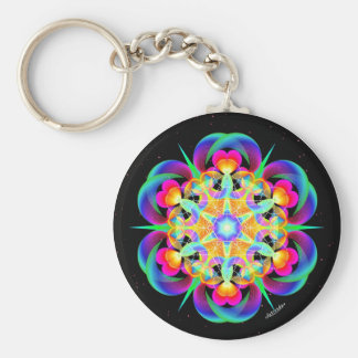 Heartfelt Basic Round Button Keychain