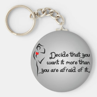 Heartfelt-Decide That You Want it Dance Basic Round Button Keychain