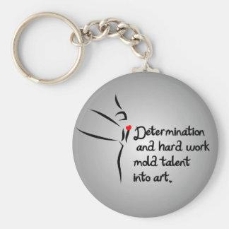 Heartfelt-Determination Dance Basic Round Button Keychain