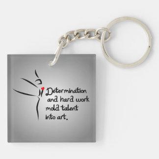 Heartfelt-Determination Dance Double-Sided Square Acrylic Keychain