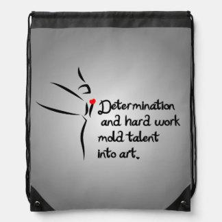 Heartfelt-Determination Dance Drawstring Bag