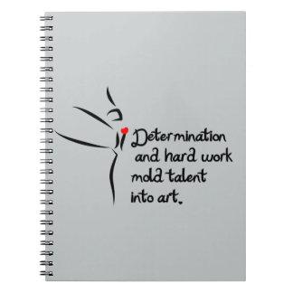 Heartfelt-Determination Dance Spiral Notebook