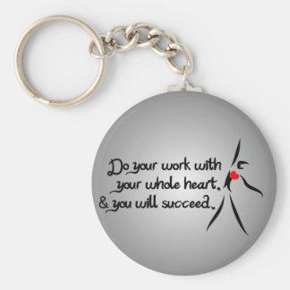Heartfelt-Do Your Work Dance Basic Round Button Keychain