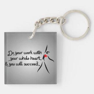 Heartfelt-Do Your Work Dance Double-Sided Square Acrylic Keychain