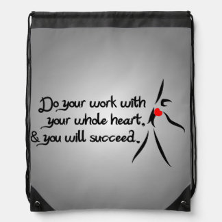 Heartfelt-Do Your Work Dance Drawstring Bag