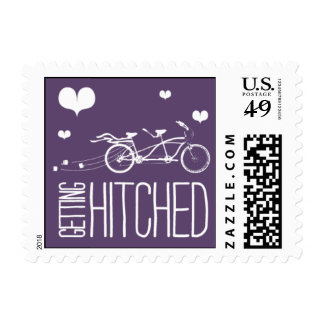 Heartfelt - Getting Hitched - Purple Postage Stamp