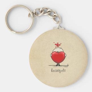 Heartfelt gift basic round button keychain