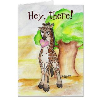 Heartfelt Giraffe Valentine's Card