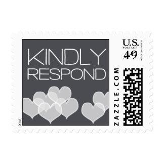 Heartfelt - Kindly Respond - Gray Stamp