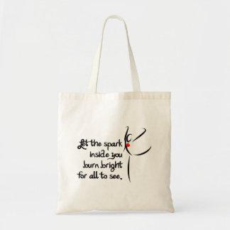 Heartfelt-Let the Spark Dance Budget Tote Bag