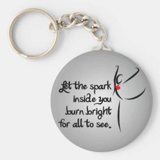 Heartfelt-Let the Spark Dance Basic Round Button Keychain