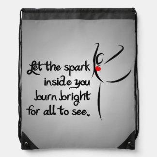 Heartfelt-Let the Spark Dance Drawstring Backpack