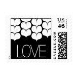 Heartfelt - Love - Black Postage Stamps