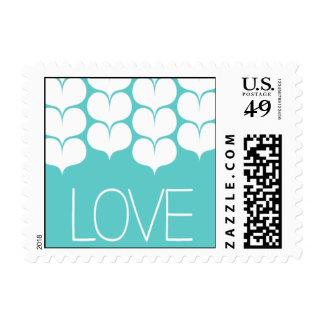 Heartfelt - Love - Blue Postage Stamps