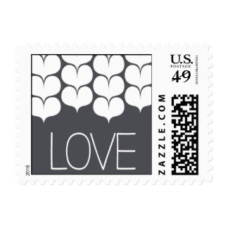 Heartfelt - Love - Gray Postage Stamps