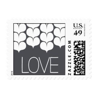 Heartfelt - Love - Gray Postage Stamps