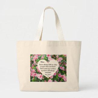 Heartfelt, loving message for Mother Large Tote Bag