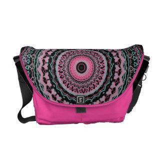 Heartfelt Mandala Kaleidoscope Pattern Courier Bag