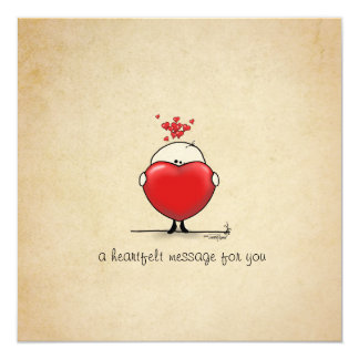 Heartfelt message - I love you Card
