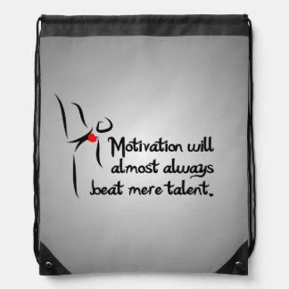 Heartfelt-Motivation Dance Drawstring Bag