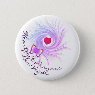 Heartfelt Prayers Las Vegas Pinback Button