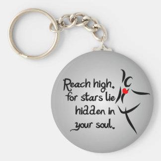 Heartfelt-Reach High Dance Basic Round Button Keychain